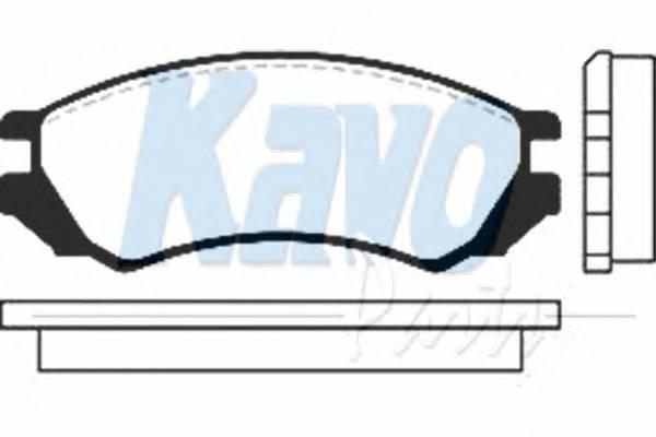 Тормозные колодки Тормозные колодки дисковые KAVOPARTS арт. BP6516