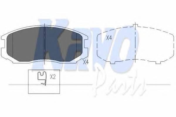 Тормозные колодки Тормозные колодки дисковые KAVOPARTS арт. KBP5505
