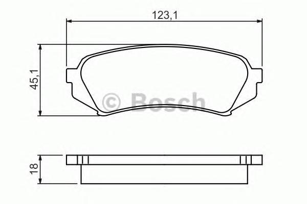Тормозные колодки Тормозные колодки Bosch PAGID арт. 0986424641