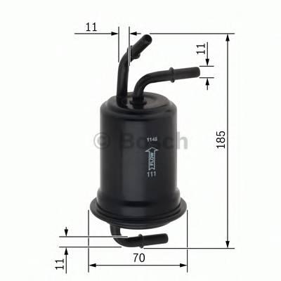 Топливные фильтры Топливный фильтр бенз BOSCH арт. 0450905970