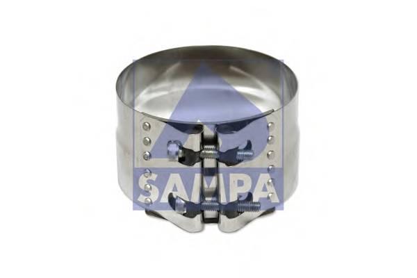 Хомут глушителя сталь d=127.0/132.0mm SAMPA 030445