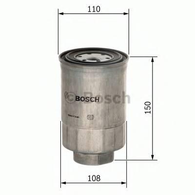 Топливные фильтры Топливный фильтр BOSCH арт. F026402039