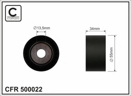 Направляющий ролик CAFFARO 500022