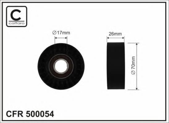 Натяжной ролик, поликлиновой  ремень CAFFARO 500054