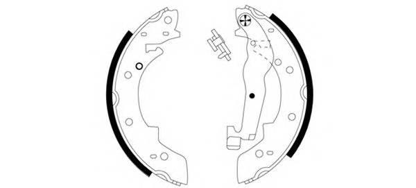 Тормозные колодки Тормозные колодки барабанные PAGID арт. 91011200
