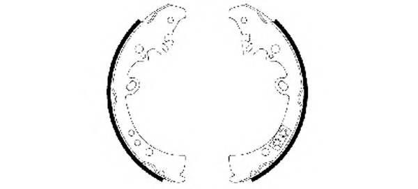 Тормозные колодки Тормозные колодки барабанные ABE арт. 91066300