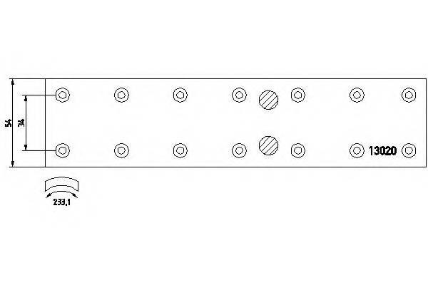 Тормозные колодки Тормозные колодки барабанные ABE арт. 1302001