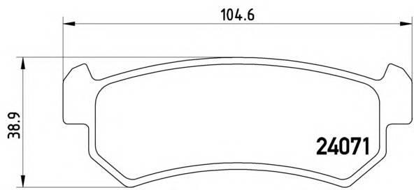 Тормозные колодки Тормозные колодки Brembo Lacetti PAGID арт. P10001