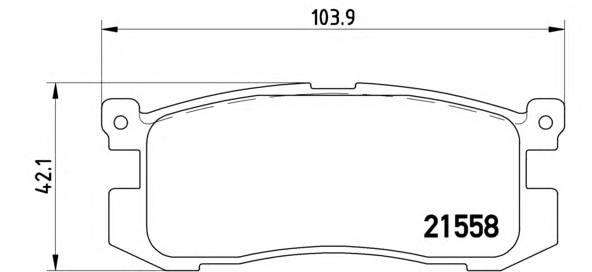 Тормозная система Гальмiвнi колодки, к-кт. PAGID арт. P24025