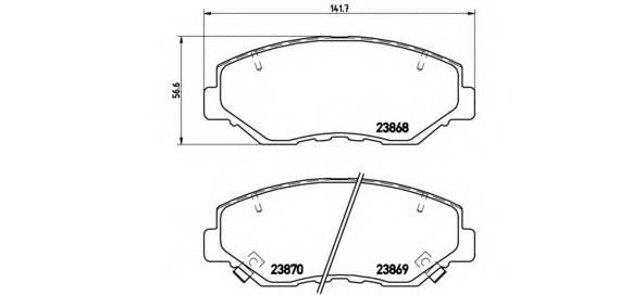 Тормозные колодки Тормозные колодки Brembo PAGID арт. P28035