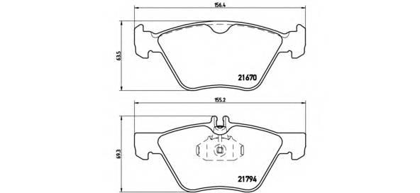 Тормозные колодки Тормозные колодки Brembo ABE арт. P50026
