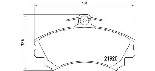 Тормозные колодки Тормозные колодки Brembo PAGID арт. P54022