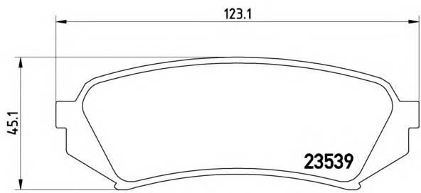 Тормозные колодки Тормозные колодки дисковые BREMBO арт. P83049