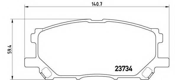 Тормозные колодки Тормозные колодки Brembo PAGID арт. P83067