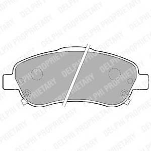 Гальмівні колодки, дискові PAGID арт. LP1786
