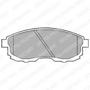 Гальмівні колодки, дискові PAGID арт. LP812