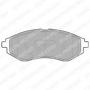 Гальмівні колодки, дискові PAGID арт. LP1895