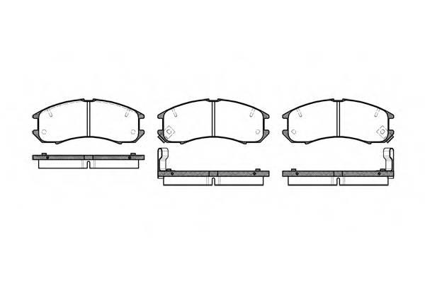 Тормозная система Гальмiвнi колодки, к-кт. ABE арт. 227302