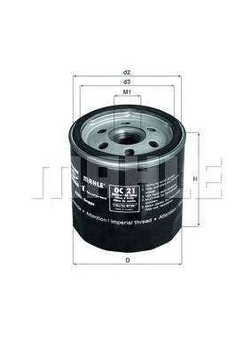 Масляные фильтры Фільтр масляний KNECHT арт. OC21