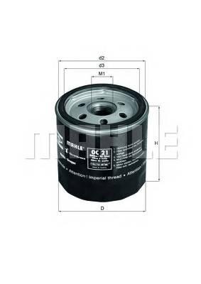 Масляные фильтры Фільтр масляний KNECHT арт. OC21OF
