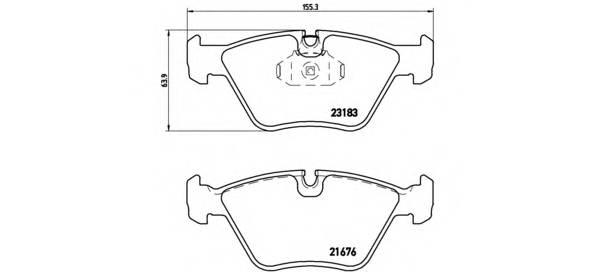 Тормозная система Гальмiвнi колодки, к-кт. PAGID арт. P06043
