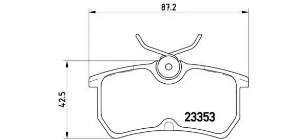 Тормозные колодки Тормозные колодки дисковые BREMBO арт. P24047