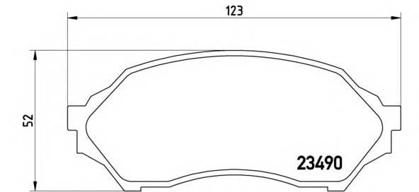 Тормозные колодки Тормозные колодки дисковые ABE арт. P49027