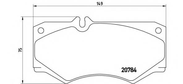 Тормозная система Гальмiвнi колодки, к-кт. PAGID арт. P50003