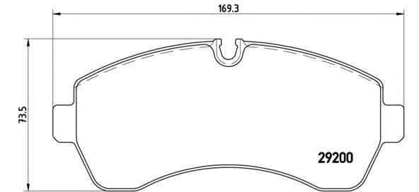 Тормозная система Гальмiвнi колодки, к-кт. ABE арт. P50059