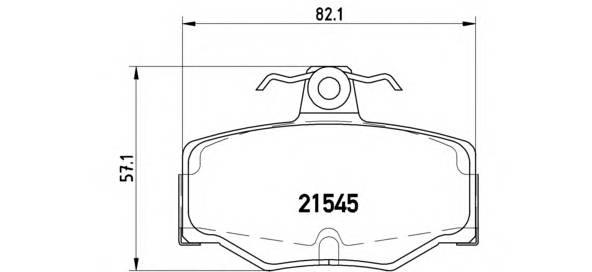 Тормозные колодки Тормозные колодки дисковые BREMBO арт. P56024