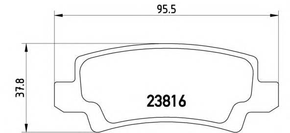Тормозные колодки Тормозные колодки дисковые BREMBO арт. P83065