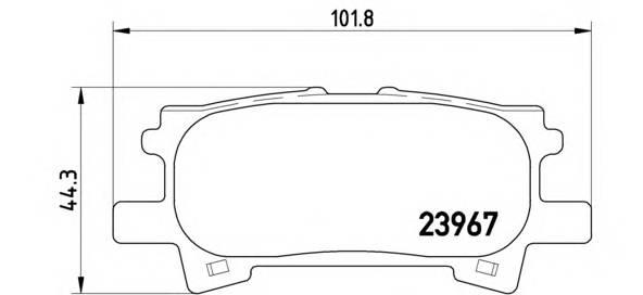 Тормозные колодки Тормозные колодки дисковые BREMBO арт. P83068