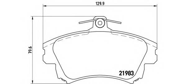 Тормозные колодки Тормозные колодки Brembo PAGID арт. P86017
