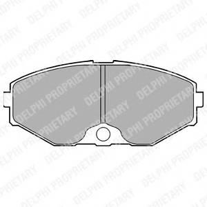 Гальмівні колодки, дискові ABE арт. LP1058