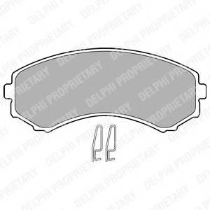 Гальмівні колодки, дискові ABE арт. LP1462