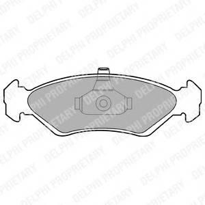 Гальмівні колодки, дискові ABE арт. LP1603