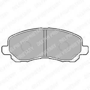 Гальмівні колодки, дискові PAGID арт. LP1684