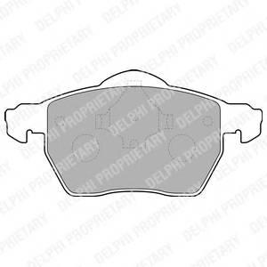 Гальмівні колодки, дискові PAGID арт. LP1687