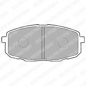Гальмівні колодки, дискові ABE арт. LP1819