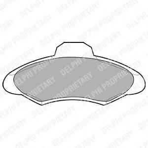 Гальмівні колодки, дискові ABE арт. LP673