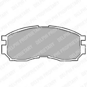 Гальмівні колодки, дискові ABE арт. LP803