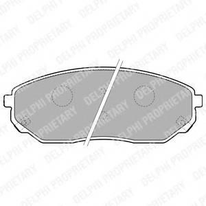 Гальмівні колодки, дискові PAGID арт. LP1849