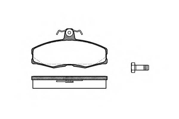 Тормозная система Гальмiвнi колодки, к-кт. PAGID арт. 215400