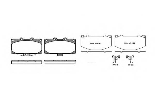 Тормозная система Гальмiвнi колодки, к-кт. PAGID арт. 259912