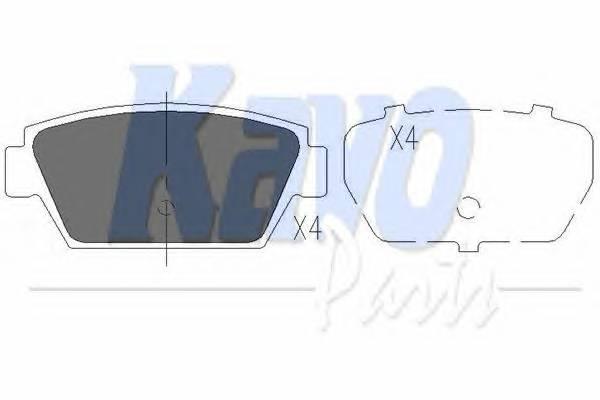 Тормозные колодки Тормозные колодки дисковые KAVOPARTS арт. KBP3010