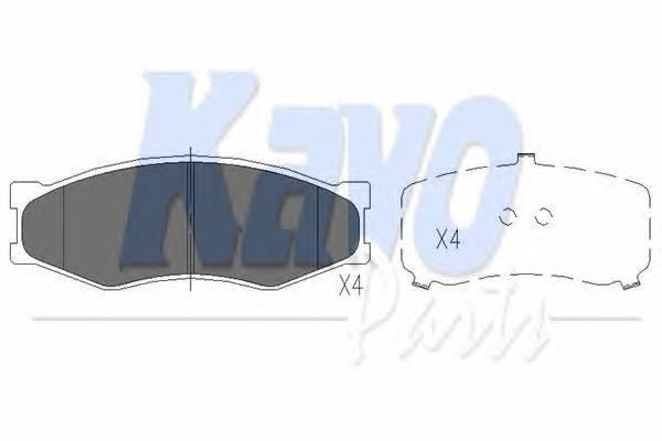 Тормозные колодки Тормозные колодки дисковые KAVOPARTS арт. KBP6522