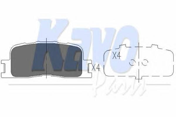 Тормозные колодки Тормозные колодки дисковые KAVOPARTS арт. KBP9077