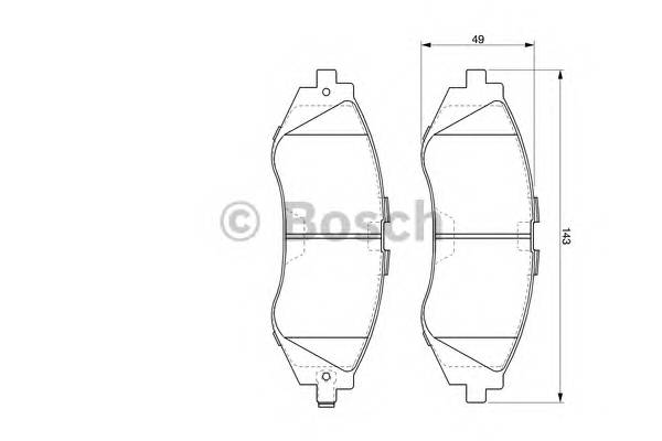 Тормозные колодки Тормозные колодки дисковые передние CHEVROLET Lacetti, Epica 2.0 ABE арт. 0986424474