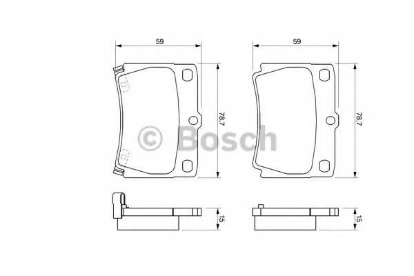 Тормозные колодки Тормозные колодки Bosch PAGID арт. 0986424711
