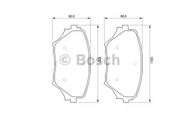 Тормозные колодки Тормозные колодки Bosch PAGID арт. 0986424719